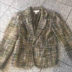 Dress Barn, size 10 blazer (looks tweed).